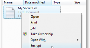 Add Encrypt Decrypt Options to Windows 7 / Vista