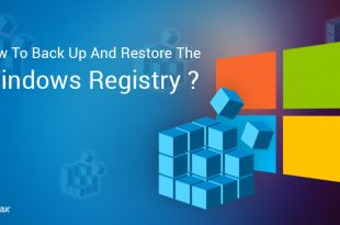 How To Backup the Windows Registry