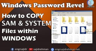 How to Copy SAM & SYSTEM File within Windows | ESR [Urdu/Hindi]